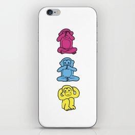 Monkey, monkey, monkey iPhone Skin