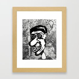 ideas and bluster Framed Art Print