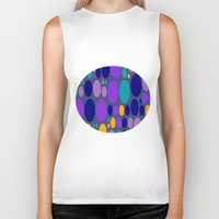 dots Biker Tanks featuring Dots by Aloke Design