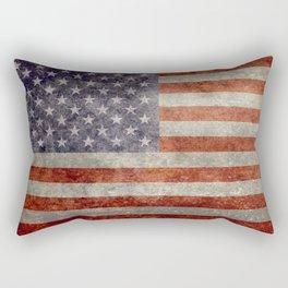 USA Flag Banner - Imagine this Rectangular Pillow