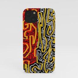 Laberinto red black iPhone Case