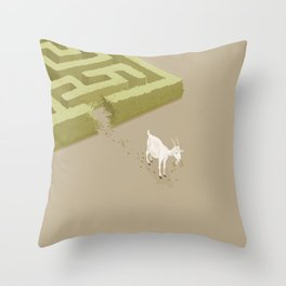 Do you solve problems by using logic or instinct? Throw Pillow