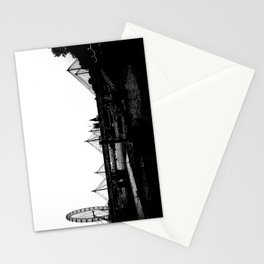 Thames skyline in black and white, London, UK Stationery Cards