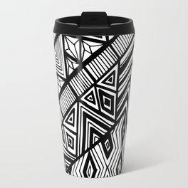 Original Geometric ink-pen print Travel Mug