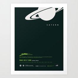 Saturn - Poster Art Print