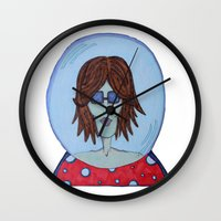 glass Wall Clocks featuring Glass by BNK Design