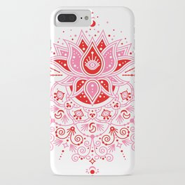 Lotus Blossom Mandala – Red & Pink Palette iPhone Case