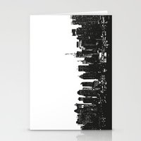 wwe Stationery Cards featuring New York black and white high quality art print by eARTh