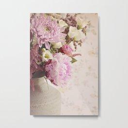 Heavenly Pink flowers Metal Print