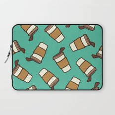 Take it Away Coffee Pattern Laptop Sleeve