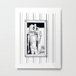 Selfie & skull Metal Print