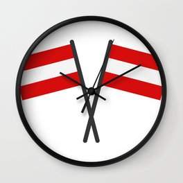 flag of austria Wall Clock