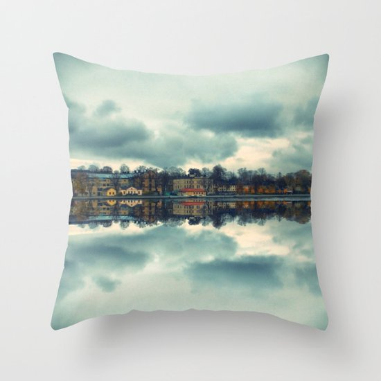 Stockholm upside-down Throw Pillow