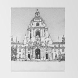 City Hall Pasadena. Throw Blanket