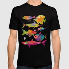 Fishes MEDIUM Black Mens Fitted Tee