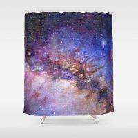 milky way Shower Curtains featuring Milky Way by Trisha Thompson Adams