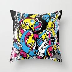 4 Seasons Doodle Throw Pillow