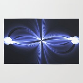 Abstract art star on a black background Rug