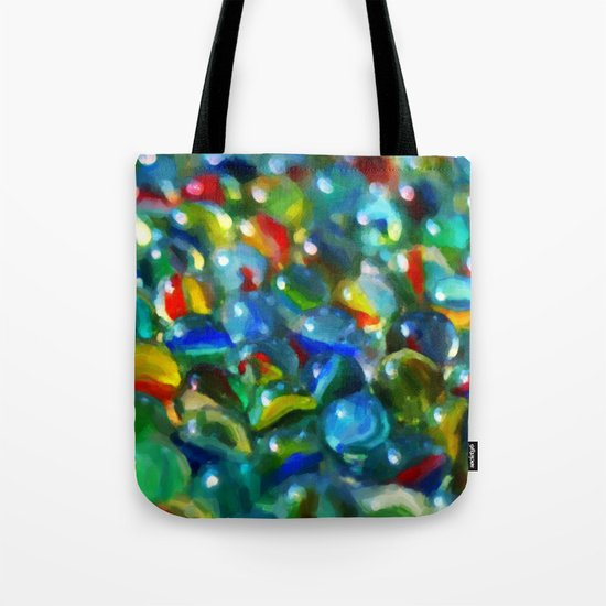 Marbles... Lost & Found - Painting Style Tote Bag