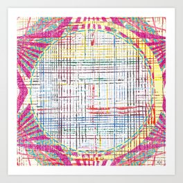 The System - pink motif Art Print