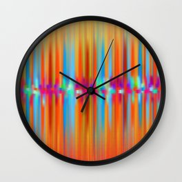 Seismic Shift Fiery Clouds Wall Clock