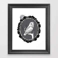 Night Owl Oval Framed Art Print