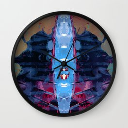 oars in the isthmus Wall Clock