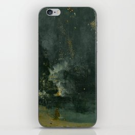 James Abbott McNeill Whistler - Nocturne in Black and Gold iPhone Skin