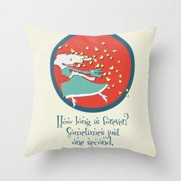Nicole's Alice in Wonderland Quote Swag Throw Pillow