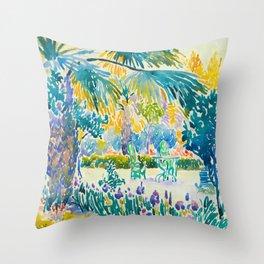 Henri-Edmond Cross Neo-Impressionism Pointillism Garden of the Painter at Saint Clair 1908 Throw Pillow