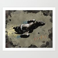 firefly Art Prints featuring Firefly by Ralf Crawford