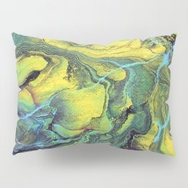 Melting Mountains Abstract Pillow Sham