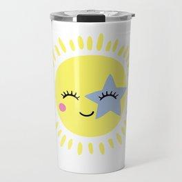 Happy sunshine star Travel Mug