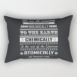 We Are All Connected (Black) Rectangular Pillow
