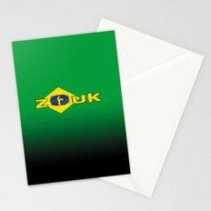 colors of brazil - lets dance brazilian zouk Stationery Cards