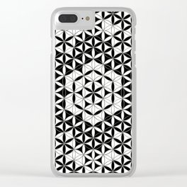 Mandala Star Flower And Crystal Grid Clear iPhone Case