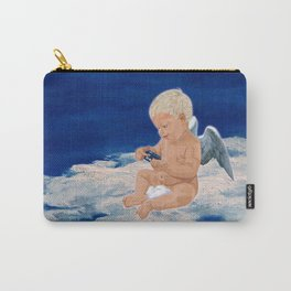 Little Angel And Blue Phone Box ( Tardis Doctor Who ) Carry-All Pouch