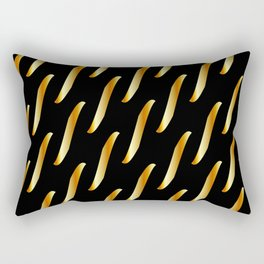Gold link chain texture Rectangular Pillow
