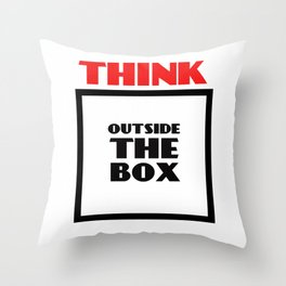 Think Outside The Box 2 Throw Pillow