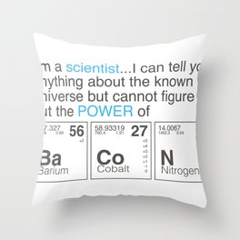 Im a Scientist and i like bacon Throw Pillow