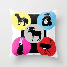 A Family of Belchers Throw Pillow