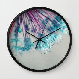 blue allium  Wall Clock