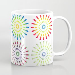 Numerous circles forming an abstract pattern on white background Coffee Mug