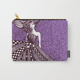 Checkerboard Dress Carry-All Pouch