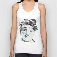 chaplin Tank Tops featuring Chaplin by Marian - Claudiu Bortan