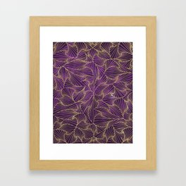 Tangles Violet and Gold Framed Art Print