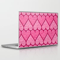 hearts Laptop & iPad Skins featuring Hearts by Warwick Wonder Works