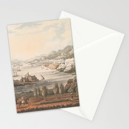 Vintage Pictorial Map of Hamilton Bermuda (1816) Stationery Cards