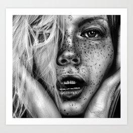 + FRECKLES + Art Print