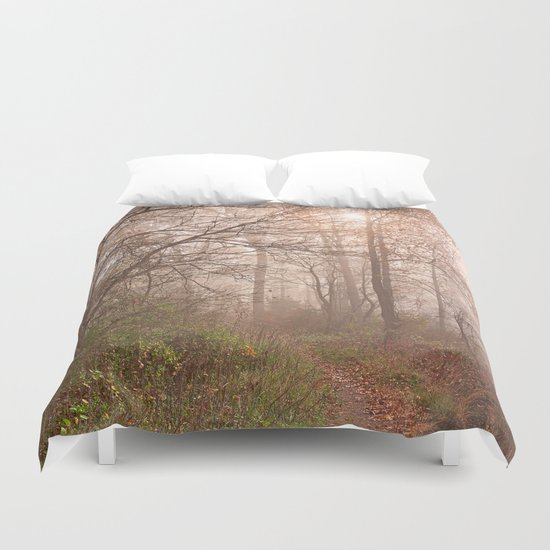 Misty North Point Trail Duvet Cover